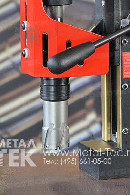 Магнитный сверлильный станок МС-40 с твердосплавной фрезой ТСТ